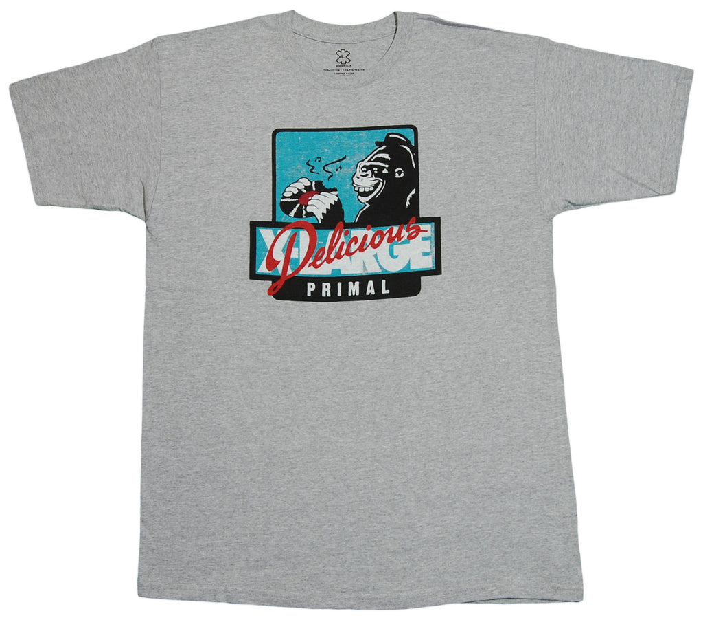 <!--2012060541-->X-LARGE x Delicious Vinyl - 'Delicious Primal' [(Gray) T-Shirt]