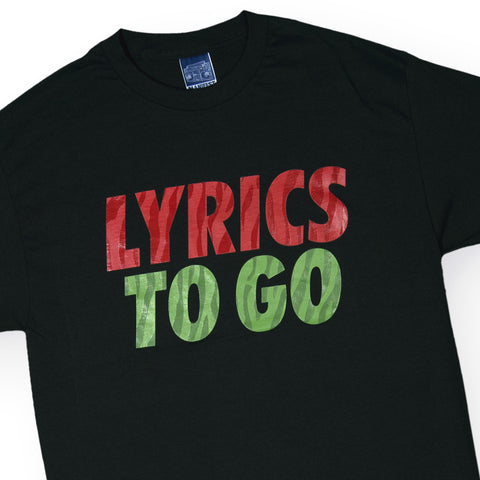Manifest - 'Lyrics To Go' [(Black) T-Shirt]
