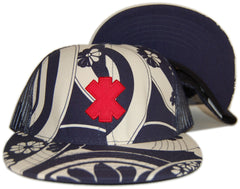 <!--2012060558-->X-LARGE - 'Routes Trucker - Sushi' [(Dark Blue) Snap Back Hat]