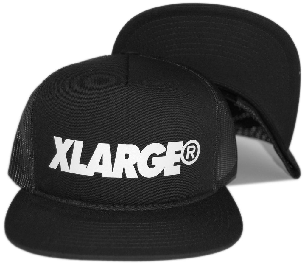 <!--2013042344-->X-LARGE - 'Slanted Trucker' [(Black) Snap Back Hat]