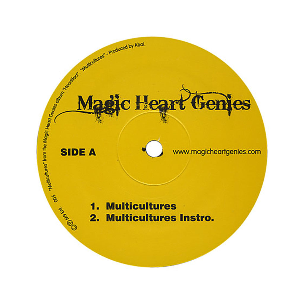"<!--020080108011923-->Magic Heart Genies - 'Multicultures/ Save My Soul/ Yes Y'all' [(Black) 12"" Vinyl Single]"