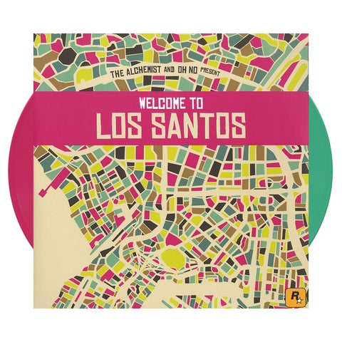 Various Artists (Alchemist & Oh No Present) - 'Welcome To Los Santos' [(Green + Pink) Vinyl [2LP]]