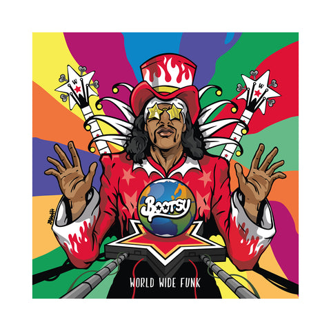 "[""Bootsie Collins - 'World Wide Funk' [(Splatter) Vinyl LP]""]"