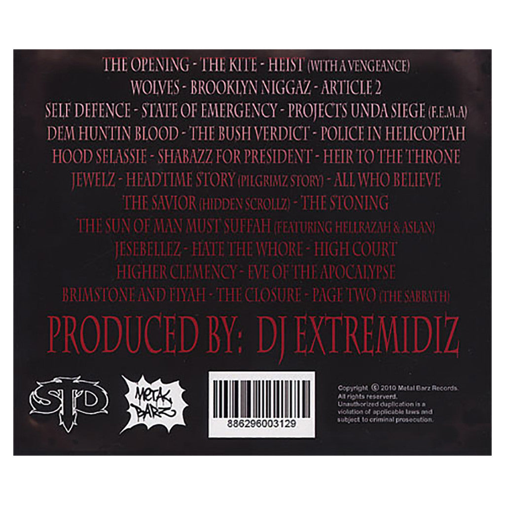 Shabazz The Disciple & DJ Extremidiz - 'Hood Scripturez' [CD]