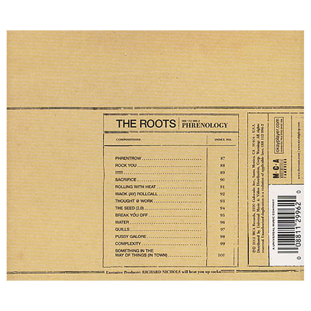 <!--120021126000720-->The Roots - 'Phrenology' [CD]