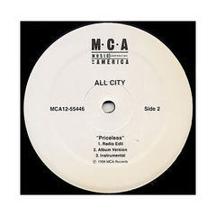 "<!--019980101014359-->All City - 'The Actual/ Priceless' [(Black) 12"" Vinyl Single]"