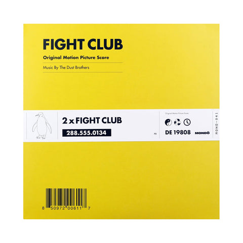 The Dust Brothers - 'Fight Club (The Original Motion Picture Score)' [(Black) Vinyl [2LP]]