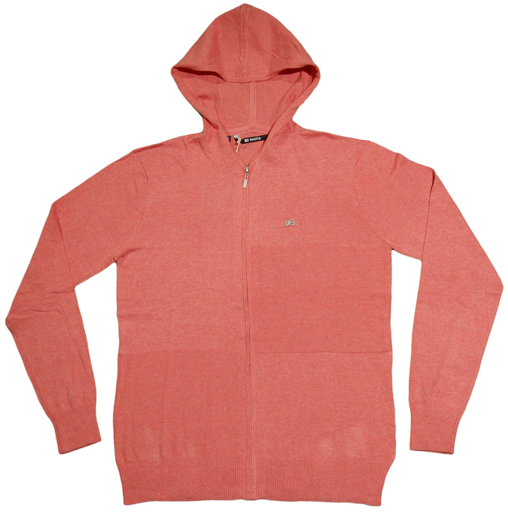 <!--2013040236-->Makia - 'Hooded Check Knit' [(Light Red) Hooded Sweatshirt]