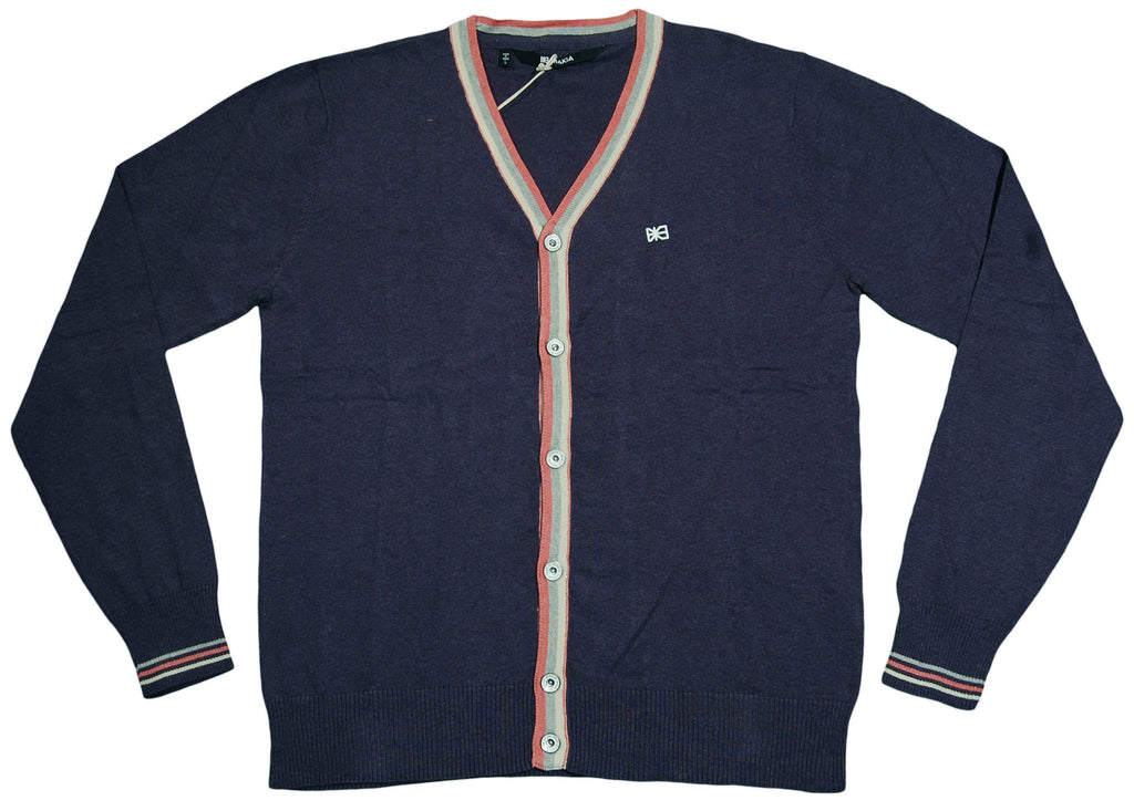 Makia - 'Stripe Knit Cardigan' [(Dark Blue) Sweater]