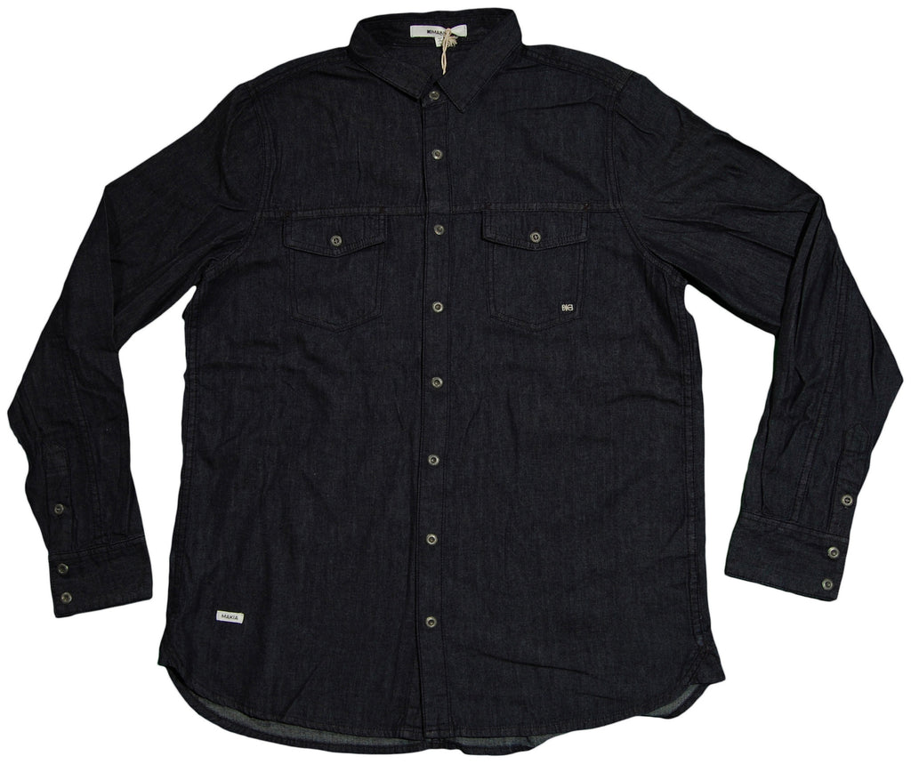 <!--2013040228-->Makia - 'Immu' [(Dark Blue) Button Down Shirt]