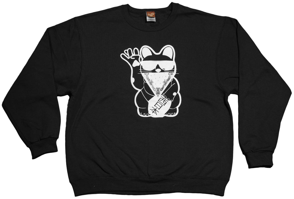<!--2011121313-->Mixer Friendly Positive Apparel - 'West Cat' [(Black) Crewneck Sweatshirt]