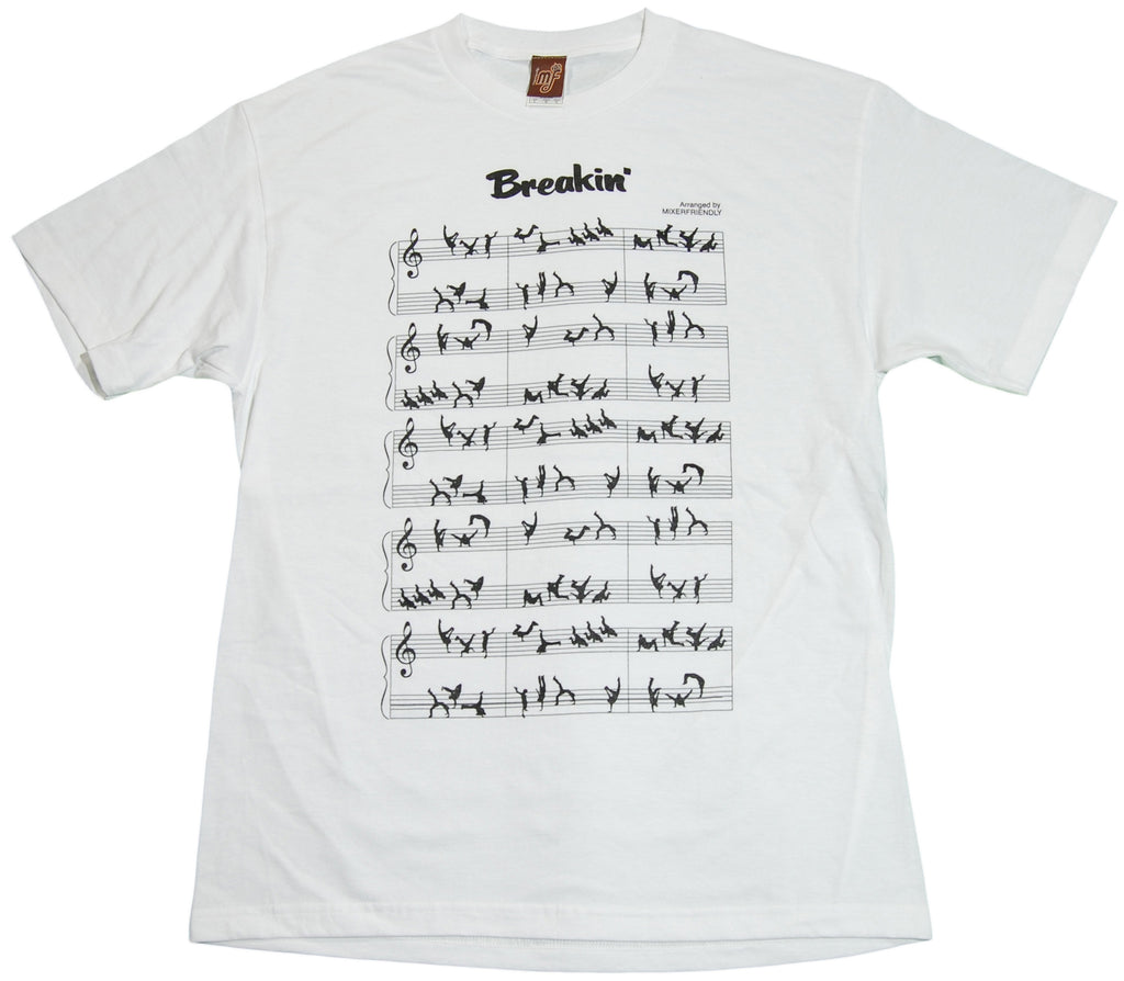 <!--2011070535-->Mixer Friendly Positive Apparel - 'Breakin'' [(White) T-Shirt]