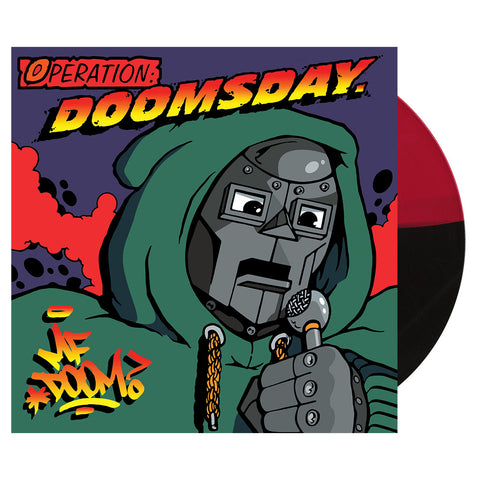 M.F. DOOM - 'Operation: Doomsday (ORIGINAL COVER ART)' [(Split Black & Red) Vinyl [2LP]]