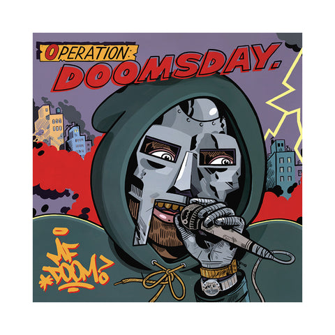 "[""M.F. DOOM - 'Operation: Doomsday (JANK + JAGEL COVER ART w/ BLACK VINYL)' [(Black) Vinyl [2LP]]""]"