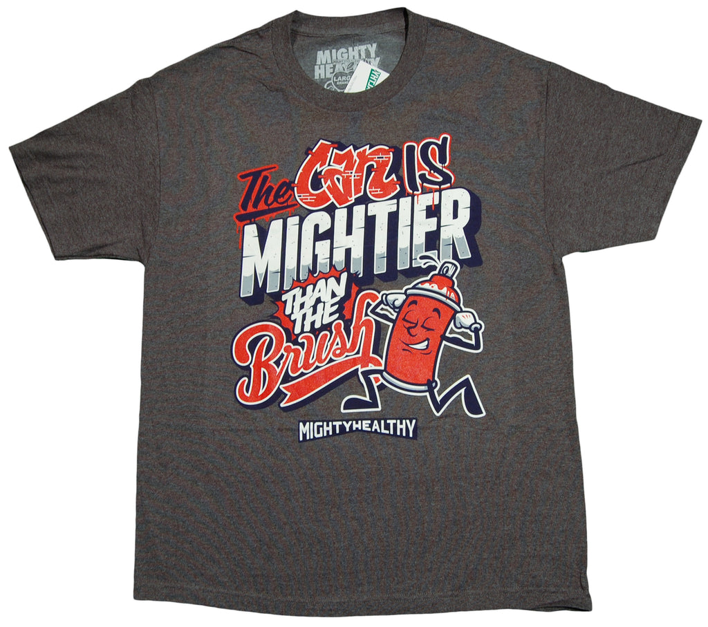 <!--2012100259-->Mighty Healthy - 'Mighty Can' [(Dark Gray) T-Shirt]