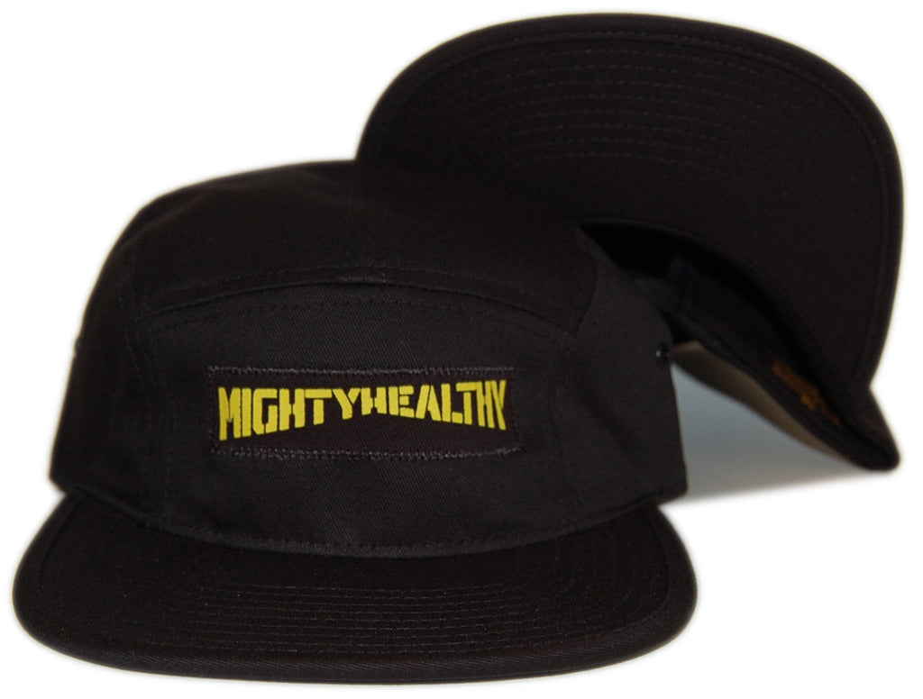 <!--2012100226-->Mighty Healthy - 'Stencil' [(Black) Five Panel Camper Hat]
