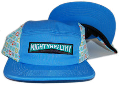 Mighty Healthy - 'Miles - Blue' [(Light Blue) Five Panel Camper Hat]