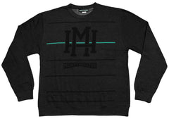 <!--2012100225-->Mighty Healthy - 'Stripes' [(Dark Gray) Crewneck Sweatshirt]