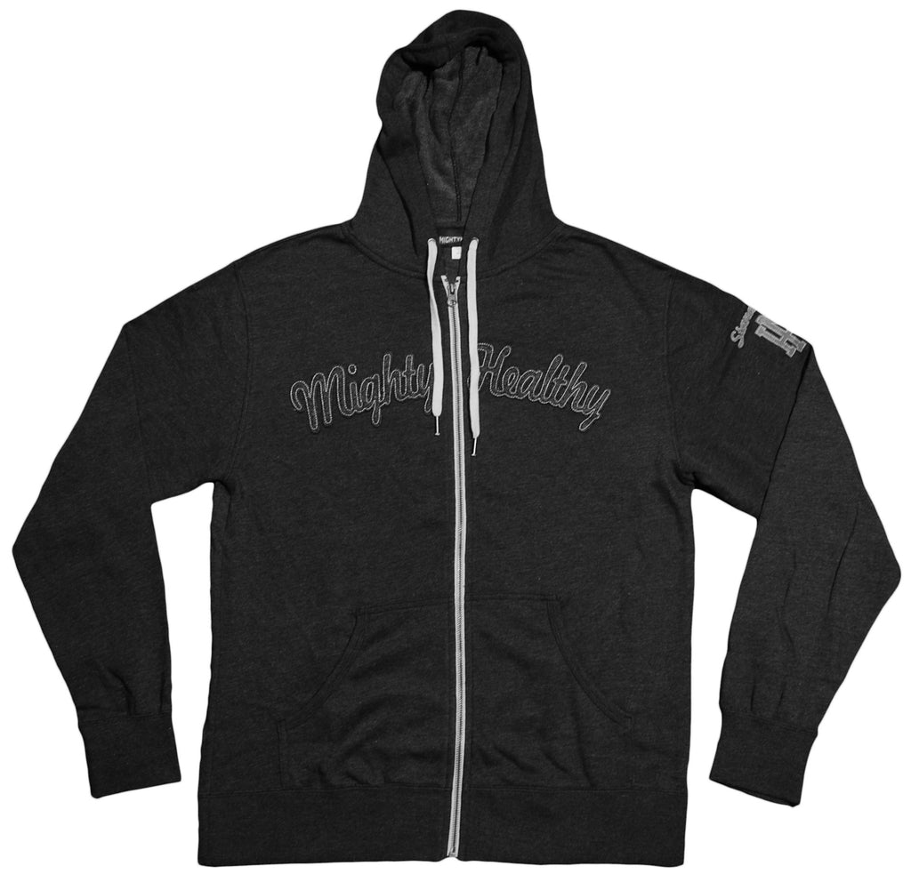 <!--2012100249-->Mighty Healthy - 'L.E.S.' [(Dark Gray) Hooded Sweatshirt]