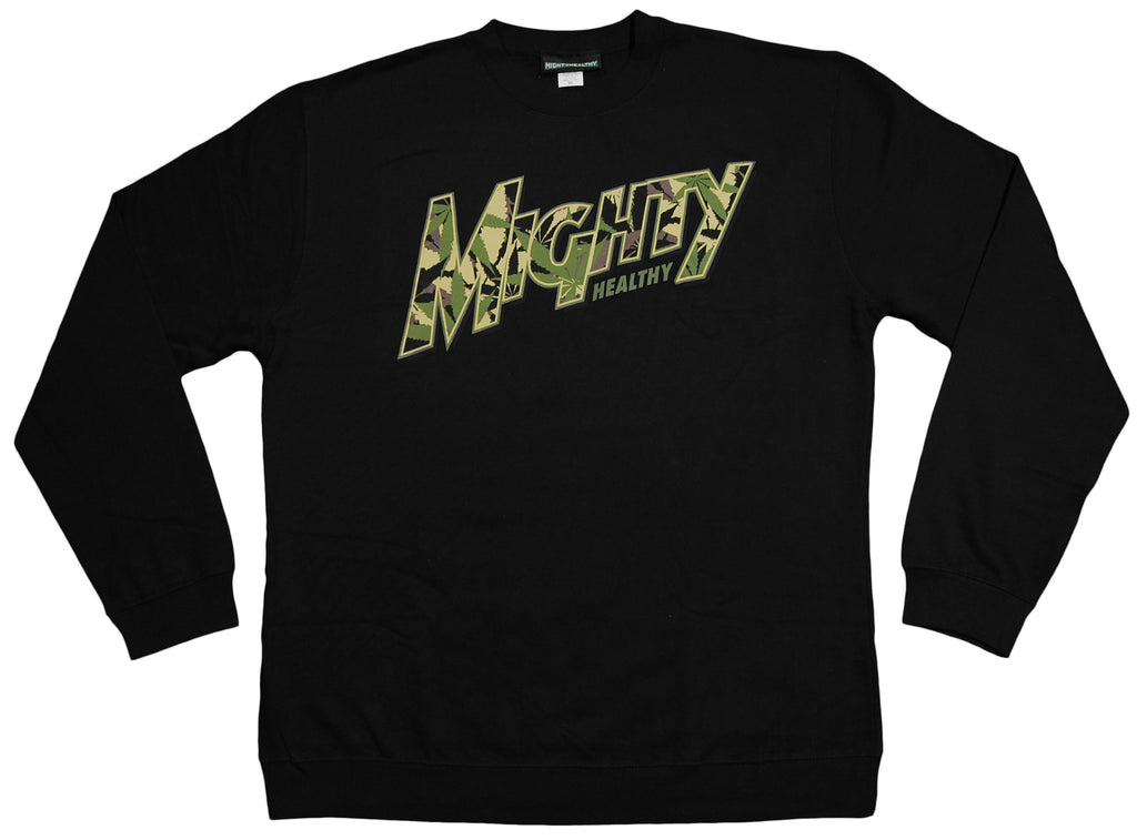 <!--2012100240-->Mighty Healthy - 'Horticulture' [(Black) Crewneck Sweatshirt]