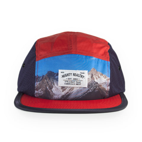 Mighty Healthy - 'Heli Camp' [(Red) Five Panel Camper Hat]