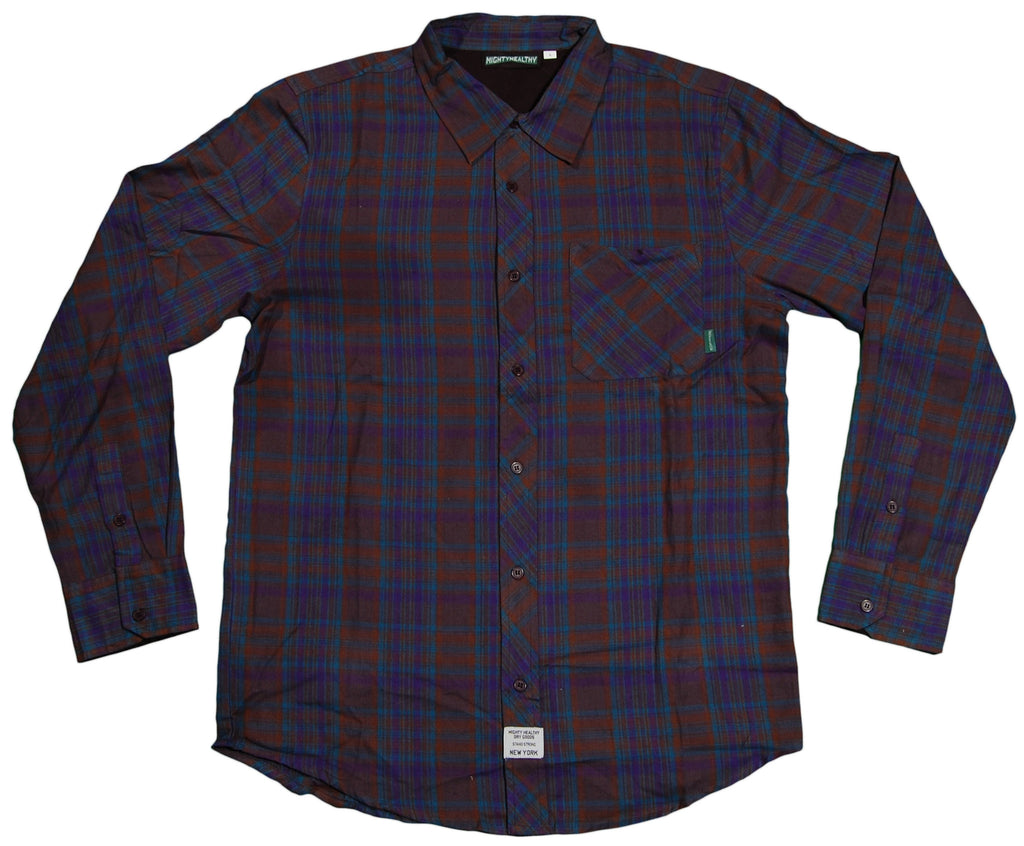 <!--2012030655-->Mighty Healthy - 'Blaze Woven' [(Dark Blue) Button Down Shirt]