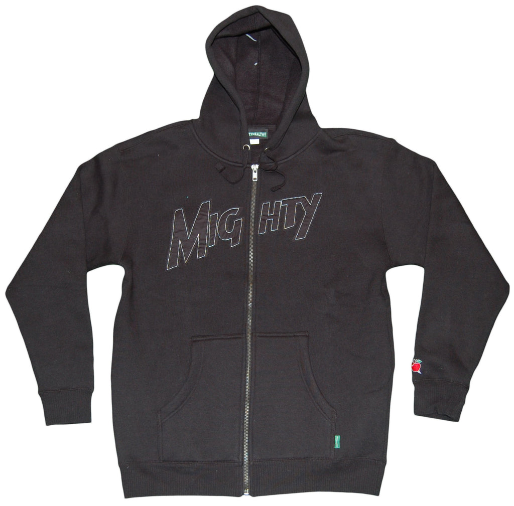 <!--2011112207-->Mighty Healthy - 'Mighty' [(Black) Hooded Sweatshirt]