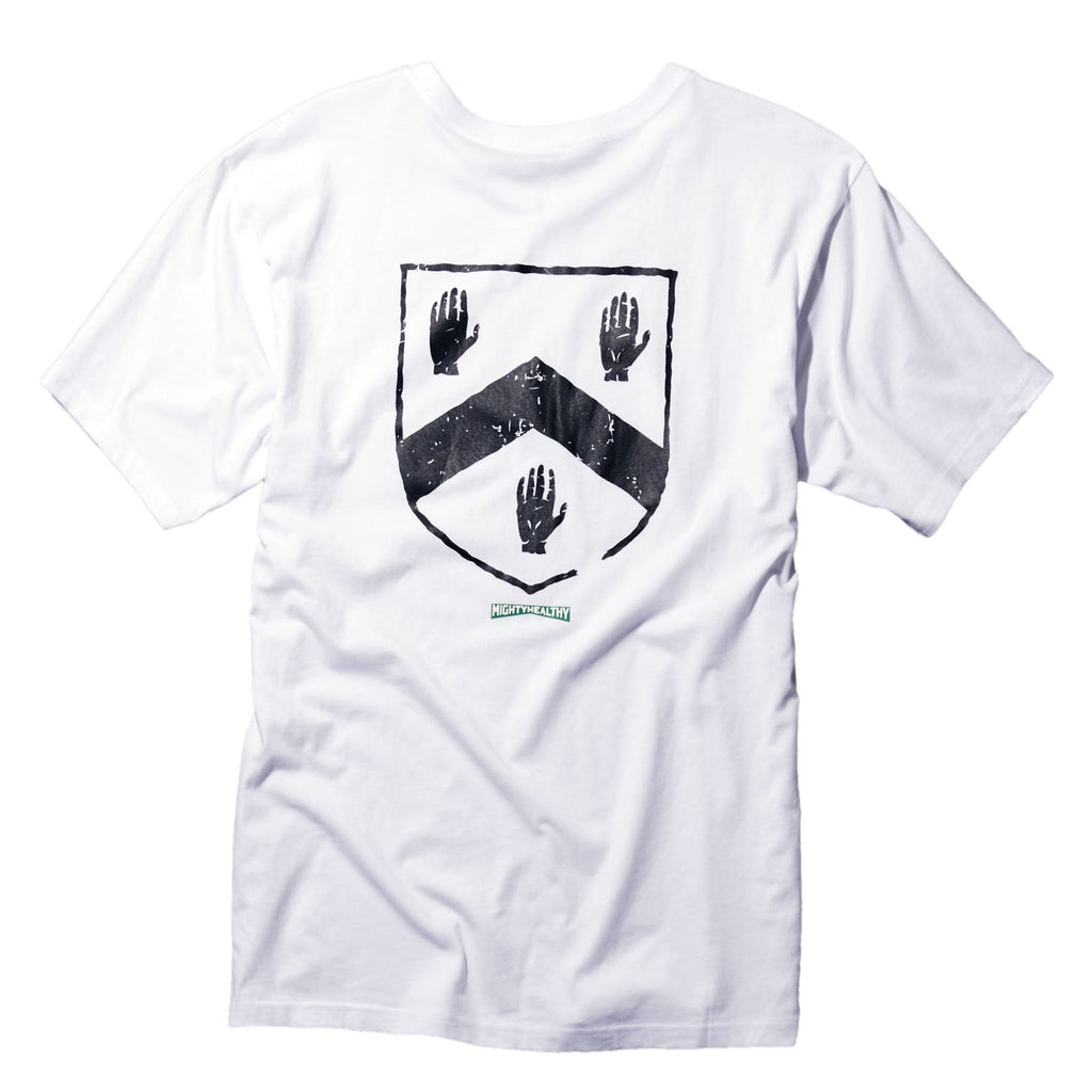 <!--2015021802-->Mighty Healthy x Gino Iannucci - 'Crest' [(White) T-Shirt]