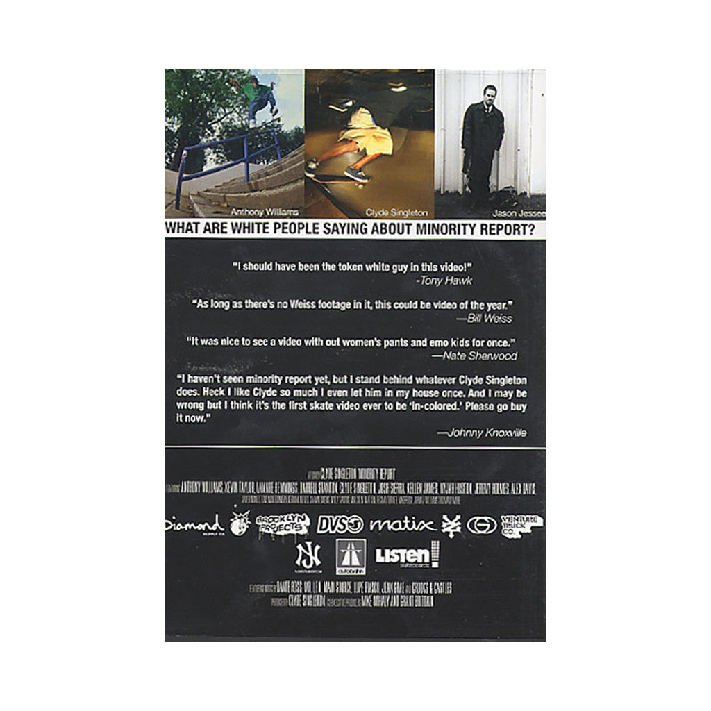 <!--020070605009957-->Clyde Singleton & The Skateboard Mag - 'Minority Report' [DVD]