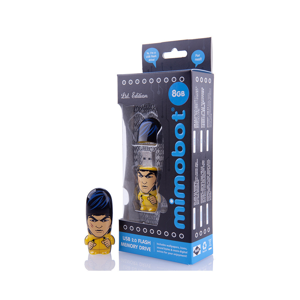 <!--020120807049973-->MIMOBOT: Legends of MIMOBOT Series - 'Bruce Lee - 8GB' [USB Memory Drive]