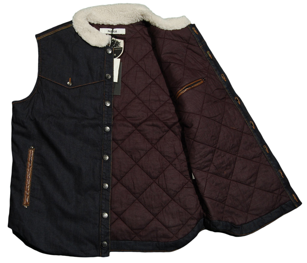 <!--2012092549-->Makia - 'Denim Vest' [(Dark Blue) Vest]
