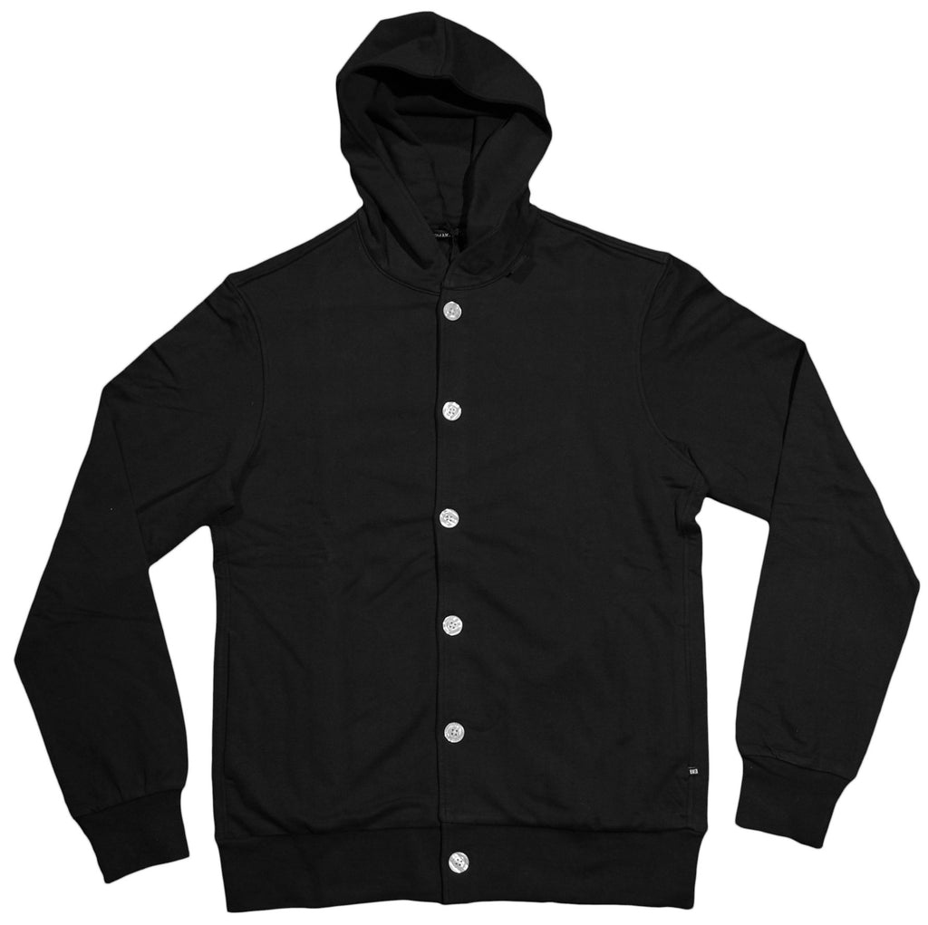 <!--2012092555-->Makia - 'Makia Button Up' [(Black) Hooded Sweatshirt]