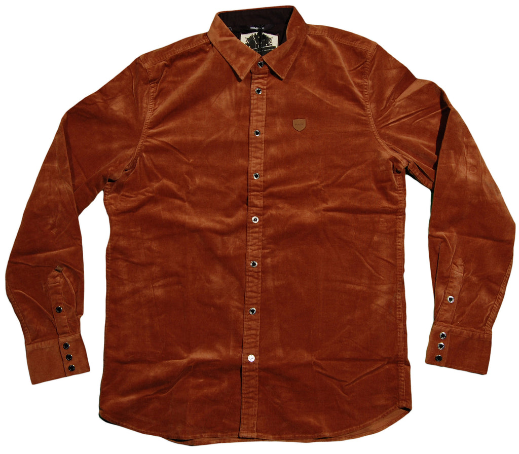 <!--2012092502-->Makia - 'Corduroy Shirt - Rust' [(Brown) Button Down Shirt]