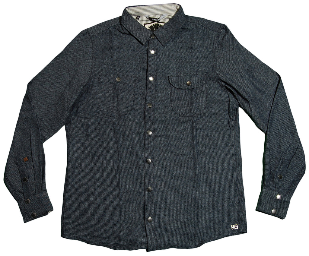 <!--2012092555-->Makia - 'Twill Shirt' [(Dark Blue) Button Down Shirt]
