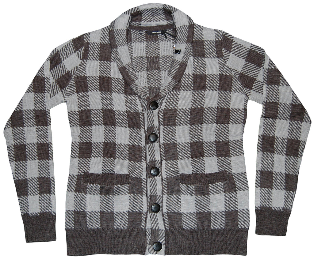 <!--2011110124-->Makia - 'Jack Check Cardigan' [(Gray) Sweater]