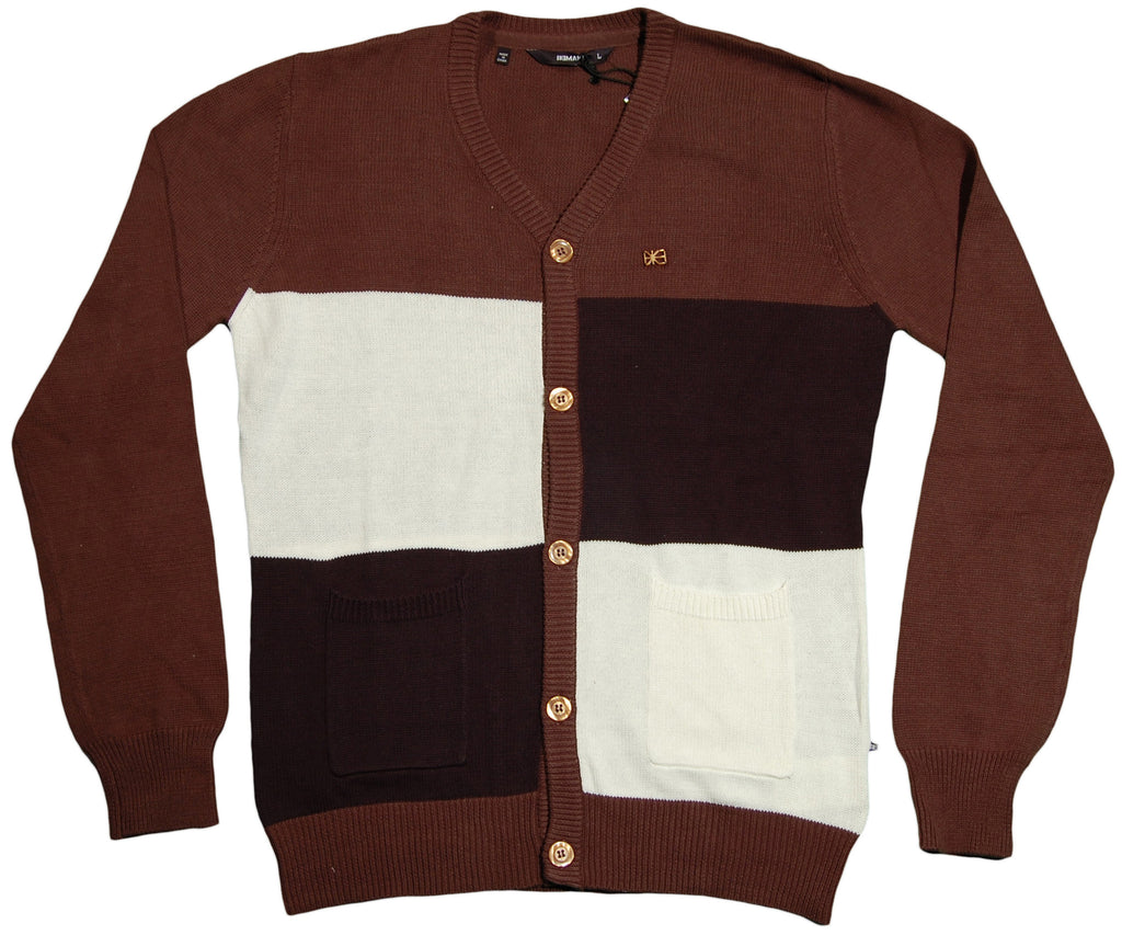 <!--2011110126-->Makia - 'Check Cardigan' [(Brown) Sweater]
