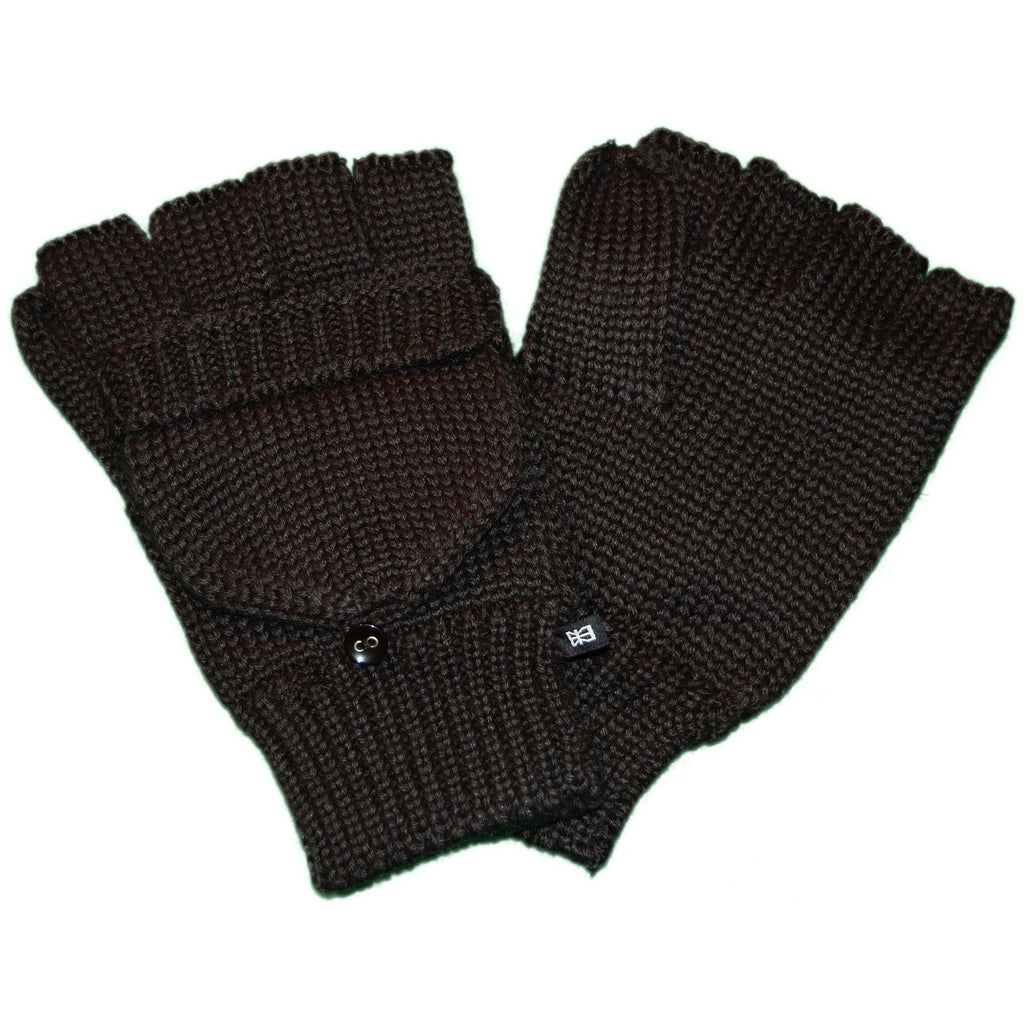 <!--2011110119-->Makia - 'Flag Fisherman's Mittens' [(Black) Gloves]