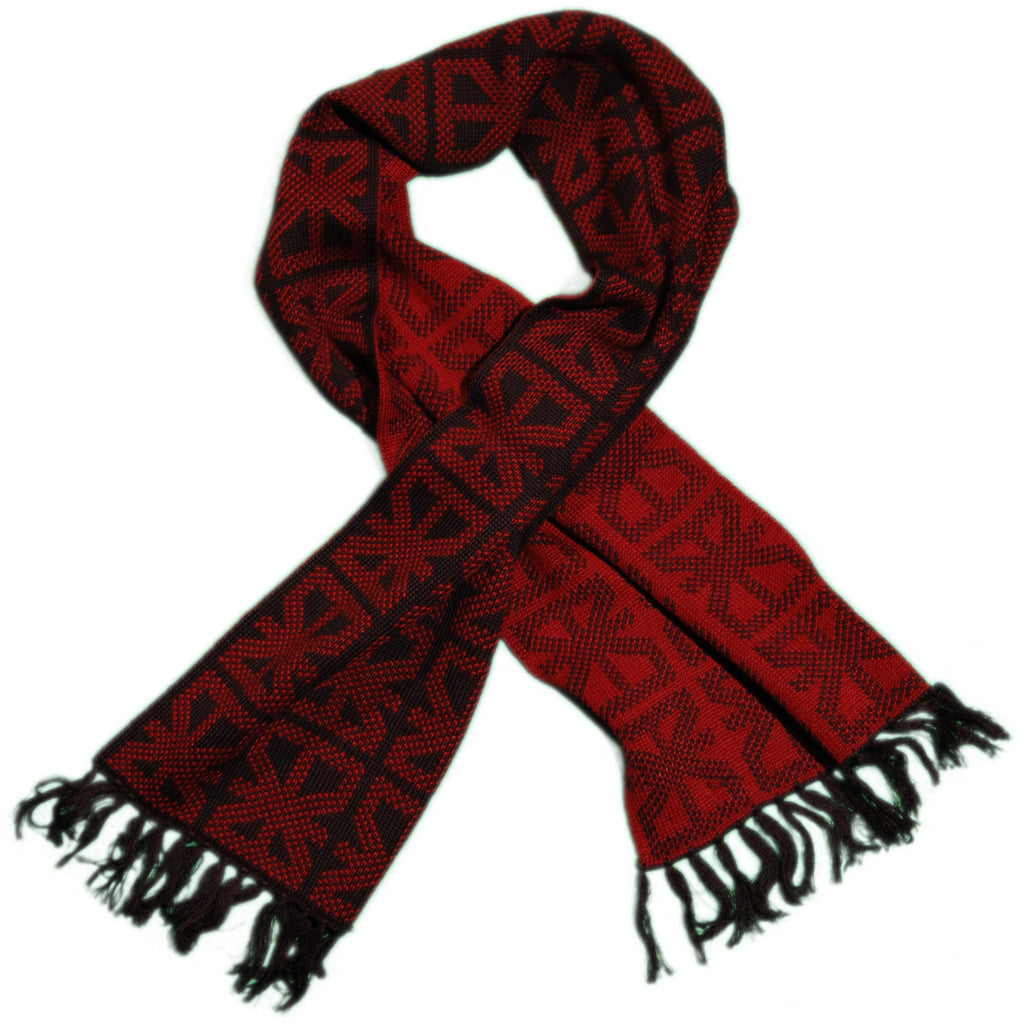 <!--2011110150-->Makia - 'Two Tone - Brick Red' [(Black) Scarf]