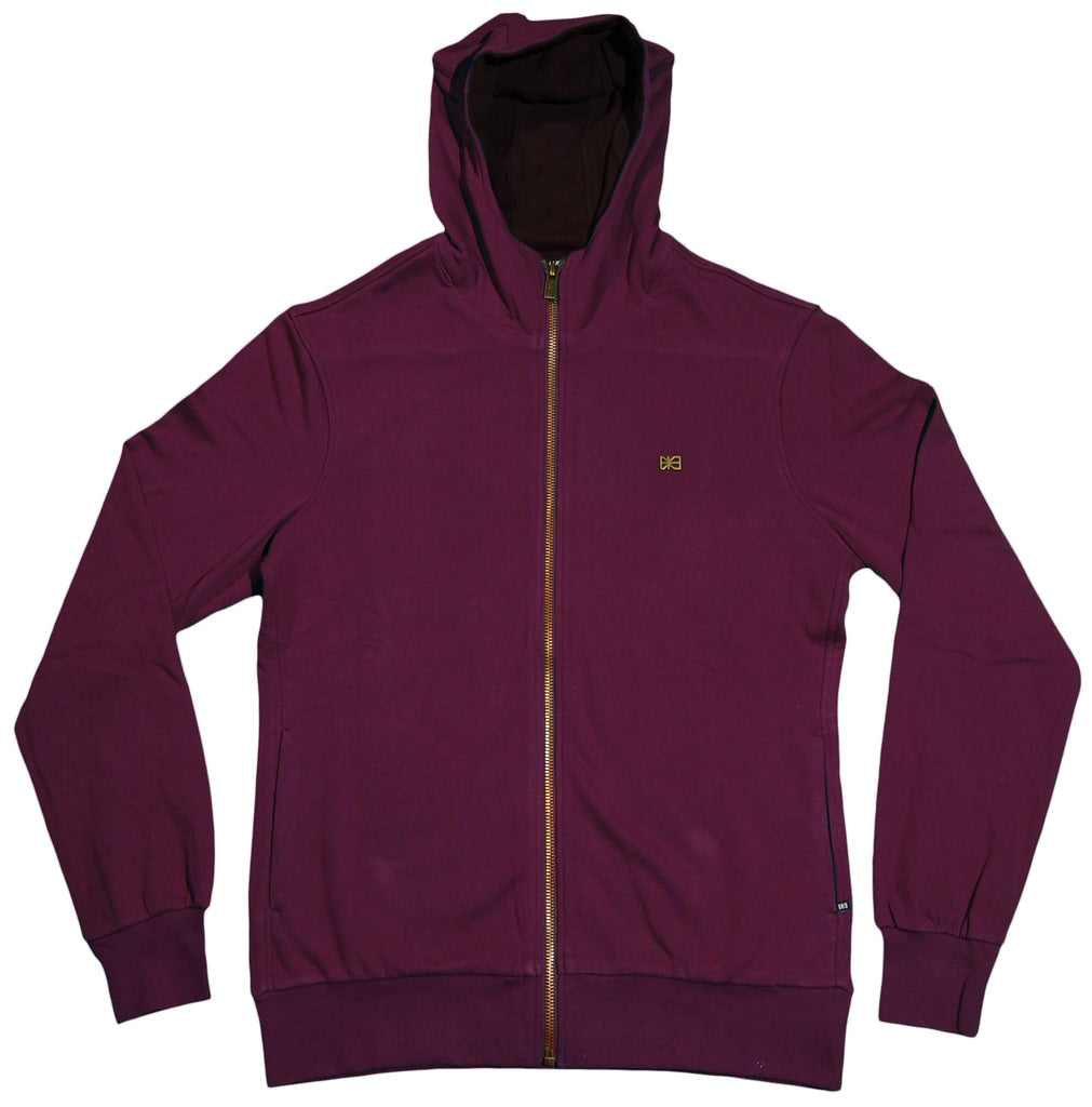<!--2012030629-->Makia - 'Steel Flag' [(Dark Red) Hooded Sweatshirt]