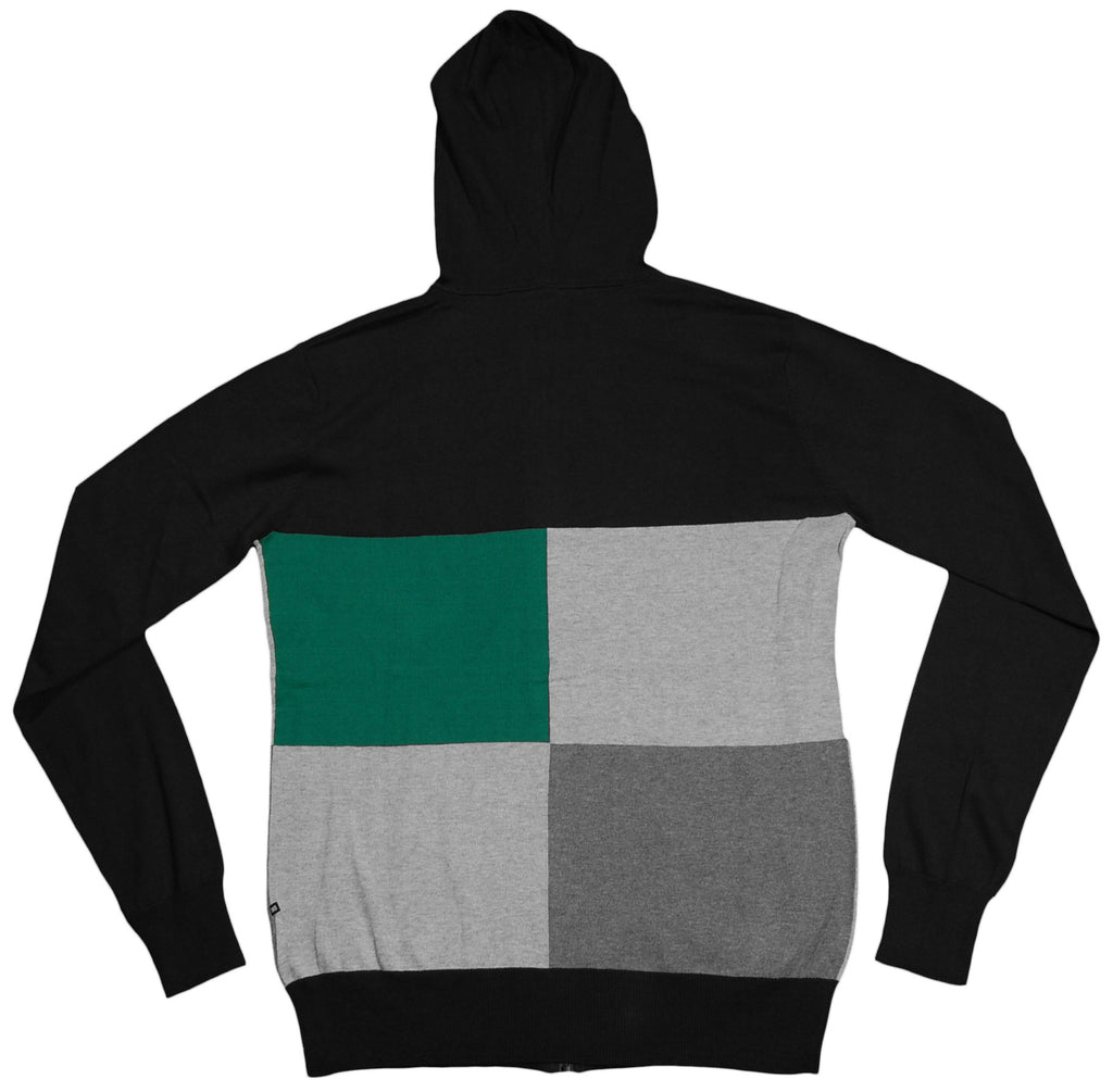 <!--2012030640-->Makia - 'Hooded Check Knit' [(Black) Hooded Sweatshirt]