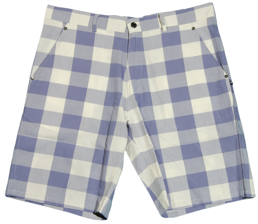 <!--2012030648-->Makia - 'Herringbone Check' [(Light Blue) Shorts]