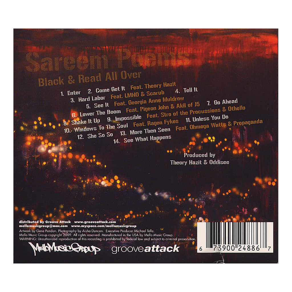 <!--2009072816-->Sareem Poems - 'Black And Read All Over' [CD]