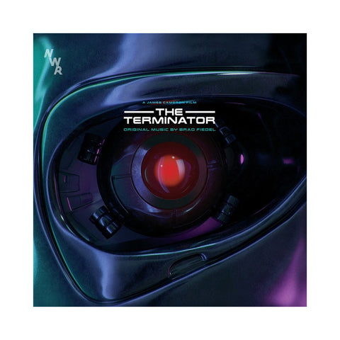 "[""Brad Fiedel - 'The Terminator (Original Motion Picture Soundtrack)' [(Red & Blue Splatter) Vinyl [2LP]]""]"