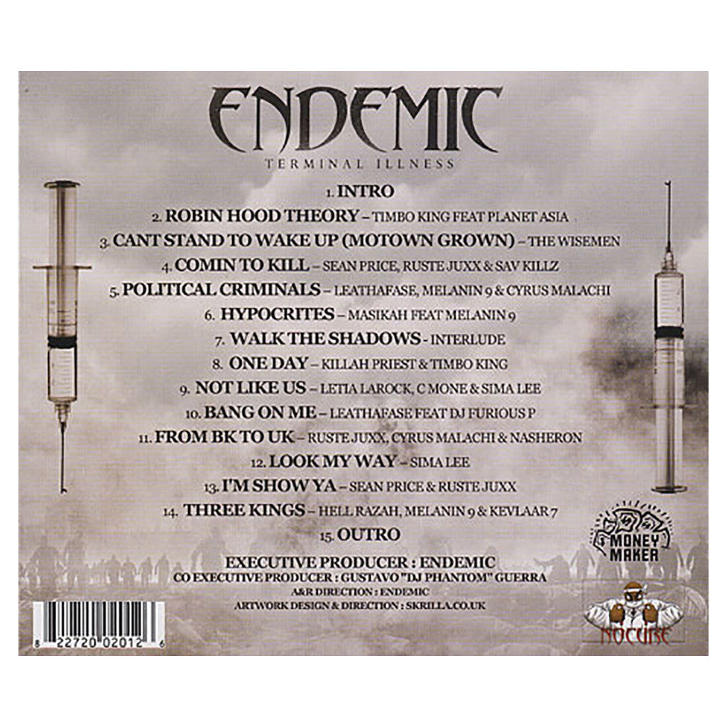 <!--120090324016274-->Endemic Presents - 'Terminal Illness' [CD]