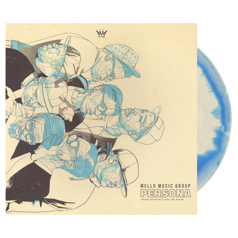 "[""Mello Music Group - 'Persona' [(Blue & White Swirl) Vinyl LP]""]"