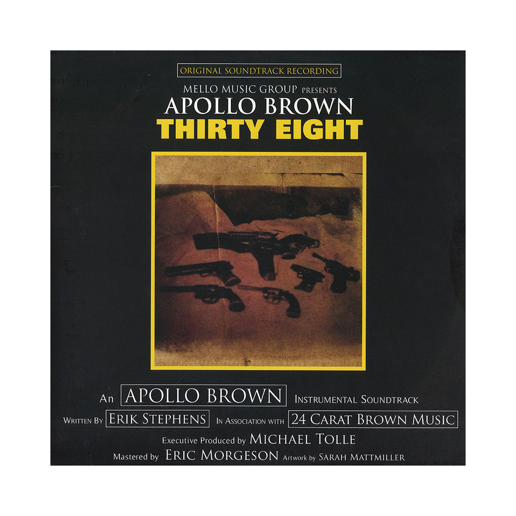 <!--020150210063053-->Apollo Brown - 'Thirty Eight' [(Yellow & Black Splatter) Vinyl LP]