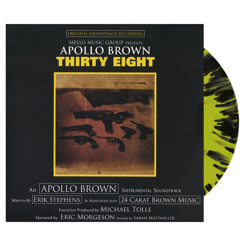 "[""Apollo Brown - 'Thirty Eight' [(Yellow & Black Splatter) Vinyl LP]""]"