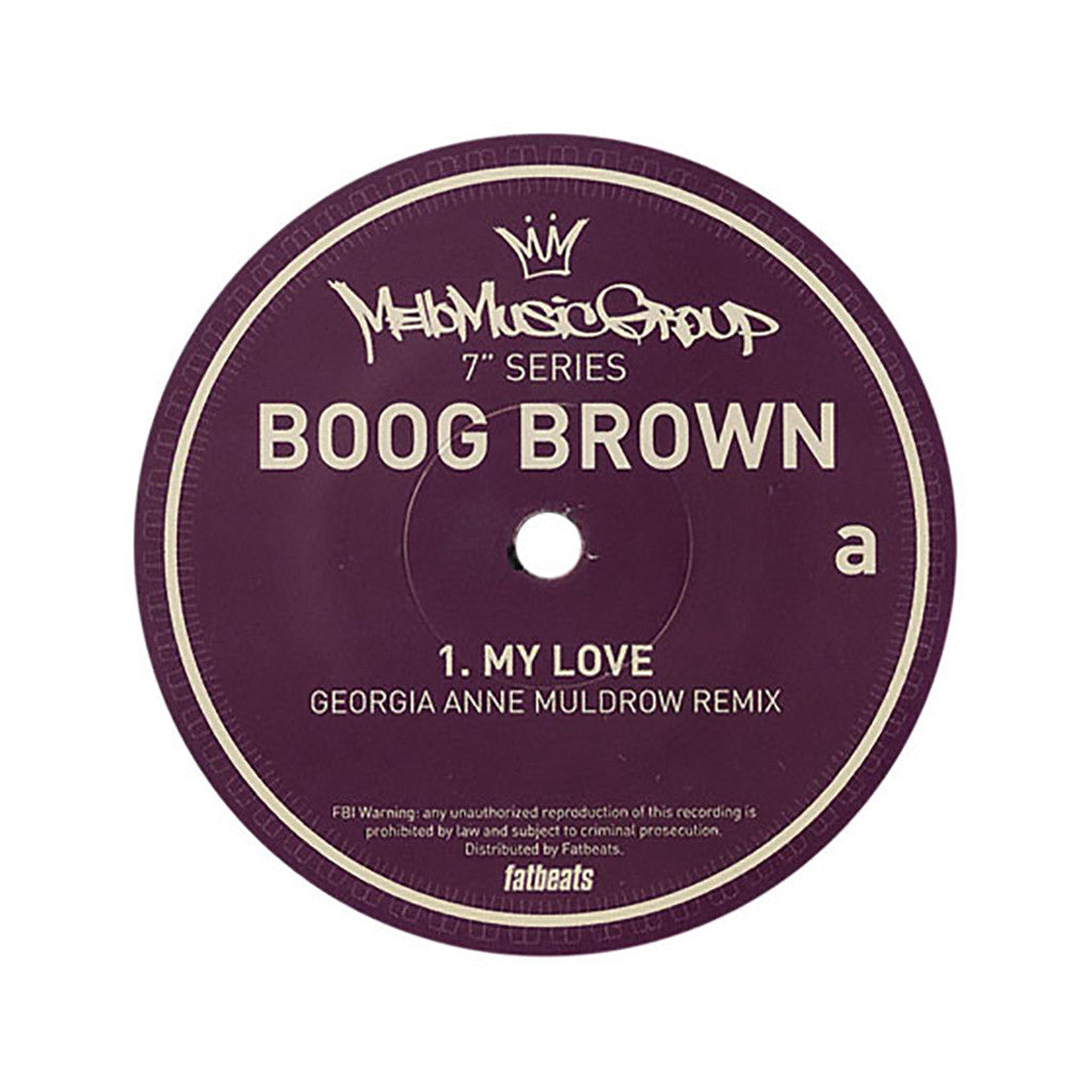 "<!--020120124040235-->Boog Brown - 'My Love (Remix)/ Baby Girl' [(Black) 7"" Vinyl Single]"