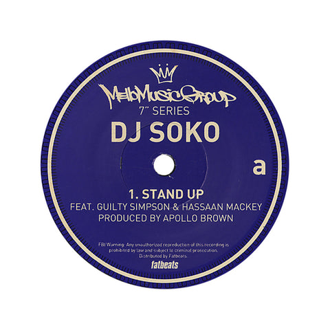 "DJ Soko - 'Stand Up/ Biters' [(Black) 7"" Vinyl Single]"