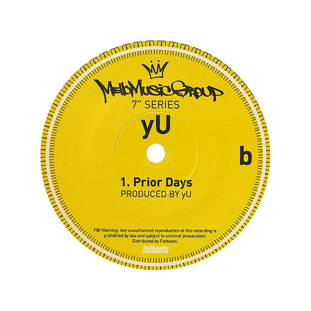 "<!--020120821046362-->yU - 'Dreams/ Prior Days' [(Black) 7"""" Vinyl Single]"